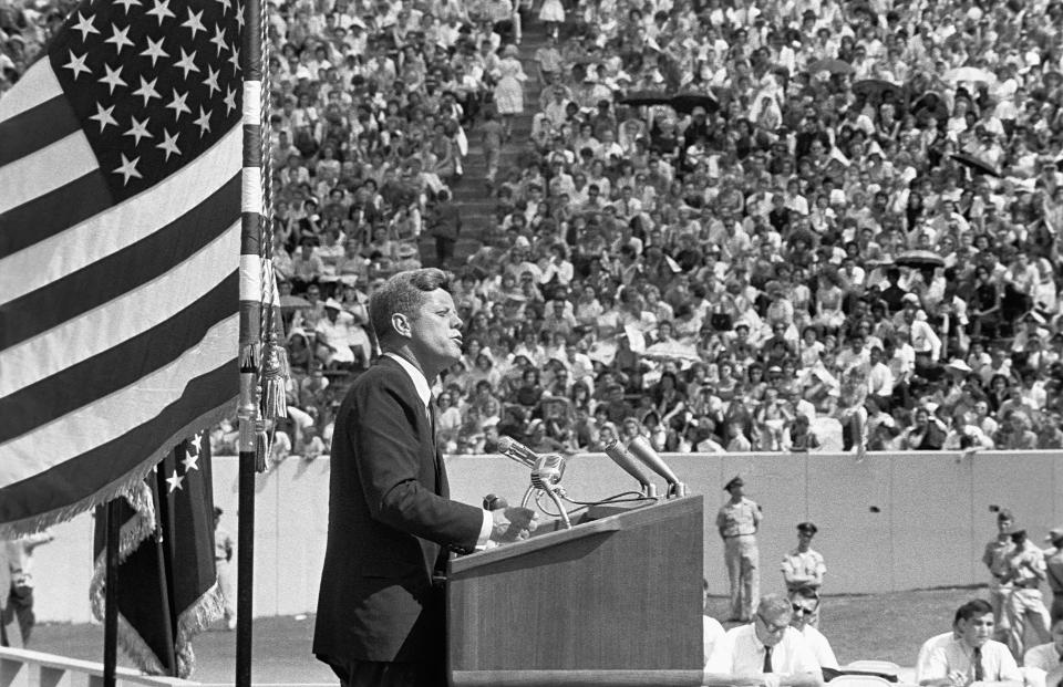 President Kennedy Gives His 'Race for Space' Speech