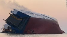 Golden Ray cargo ship: Four crew members are missing from vessel listing off Georgia's coast