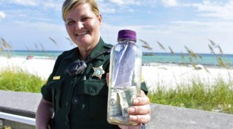 Bottle with Texas man's ashes returned to Gulf of Mexico after washing up on Florida beach