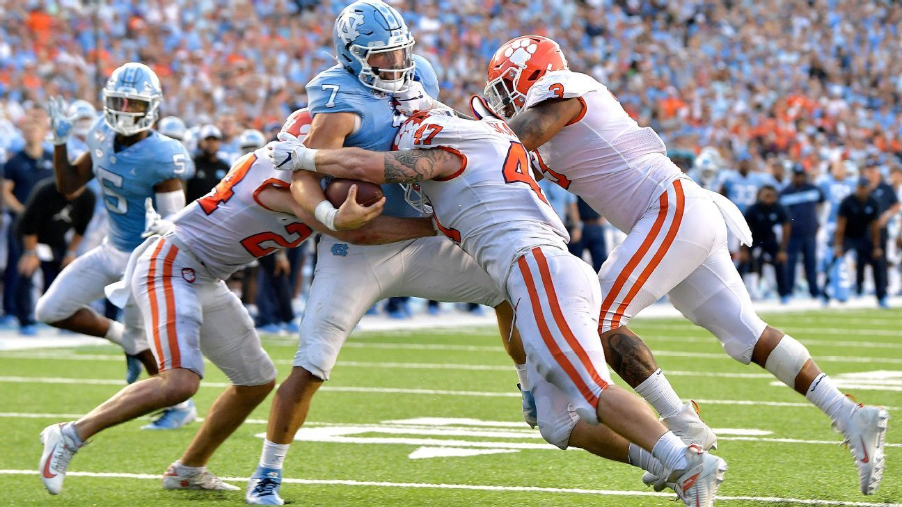 Clemson Tigers find a way to win 'ugly game' vs. unranked North Carolina Tar Heels