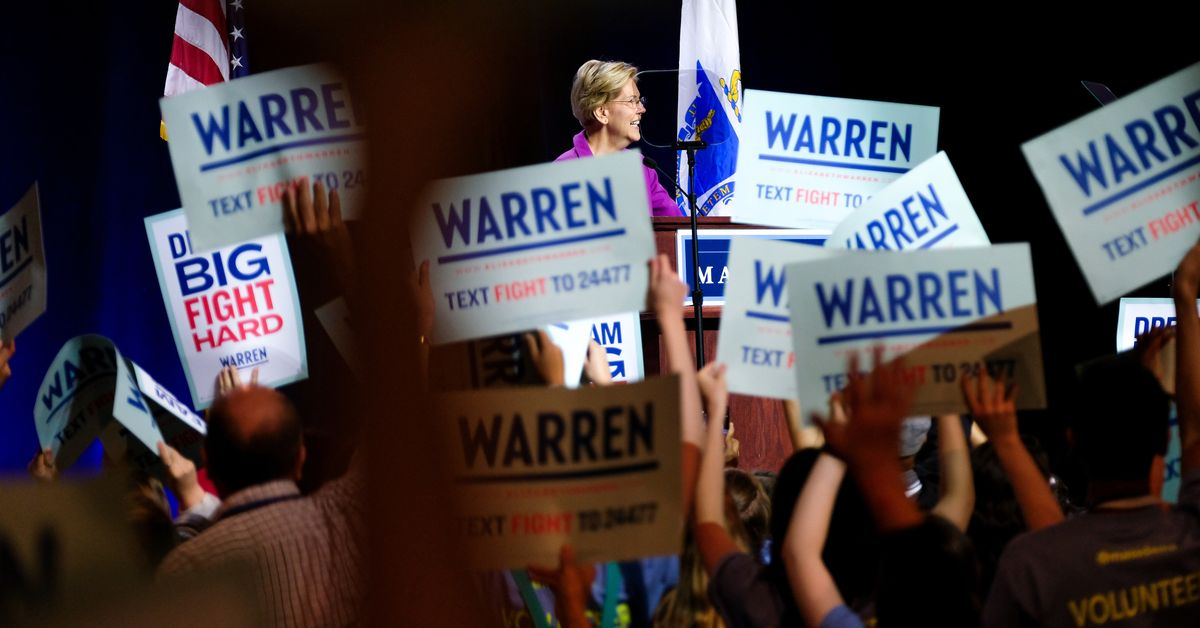 """Elizabeth Warren at New York City rally: """"Corruption is breaking our democracy"""""""