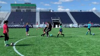 Hartford Athletic hosts girls soccer clinic, charity match, for women in technology