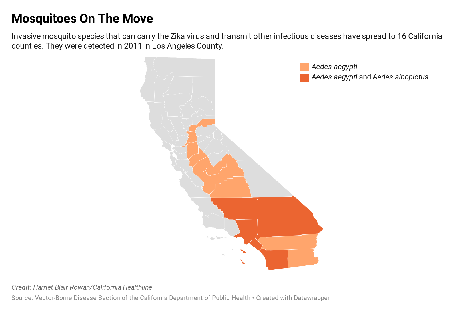 Invasive Mosquitoes Plunge Deeper Into California
