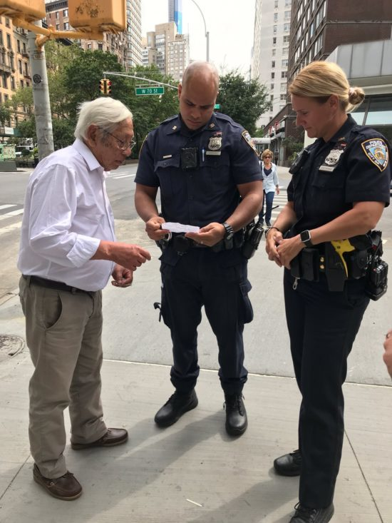 West Side Rag » 20th Precinct Combines Legwork and Technology to Locate Missing Tourist With Alzheimer's