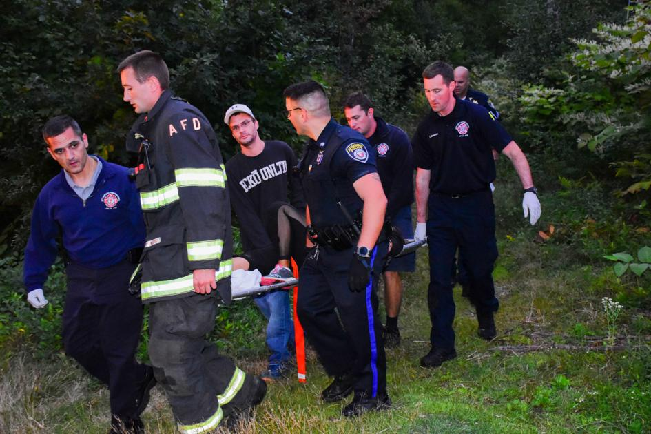 Woman assisted after falling, breaking leg while walking Attleboro trail | Local News