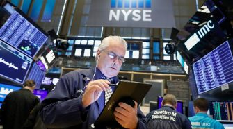 Wall Street gains as services data raises odds on Fed rate cuts