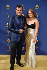 John Leguizamo and Justine Maurer attend the 70th Emmy Awards at Microsoft Theater on September 17, 2018, in Los Angeles.