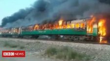 At least 65 dead in Pakistan train fire, police say