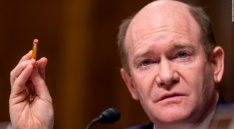 Chris Coons shuns 'lock him up' chants aimed at Trump during World Series
