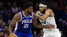 All hell breaks loose as Joel Embiid and Karl-Anthony Towns get ejected in Sixers' game vs. Timberwolves