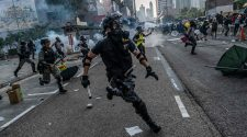 Hong Kong Police Shoot a Protester, 18, With a Live Bullet for the First Time