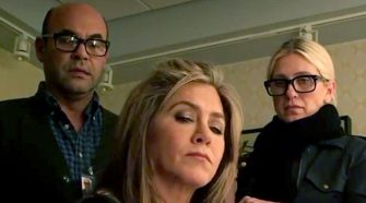 Jennifer Aniston Throws Phone Joking About Breaking Instagram