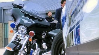 Police demonstrate speed enforcement technology