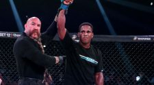 Lorenz Larkin earns win over Andrey Koreshkov