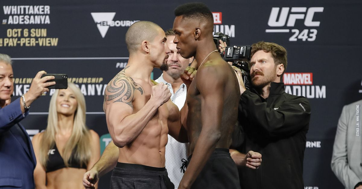 UFC 243 Results: Whittaker vs. Adesanya