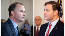 Attorney General TJ Donovan, left, and Financial Regulation Commissioner Mike Pieciak. VTDigger file photos