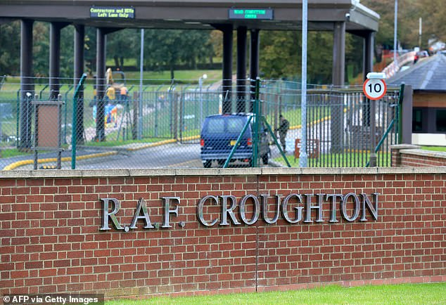 Pictured: RAF Croughton in Northamptonshire, where US military personnel are based