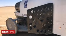 Bloodhound car returns to the track for brake testing