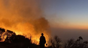 Cave fire threatens homes in Santa Barbara County amid strong winds