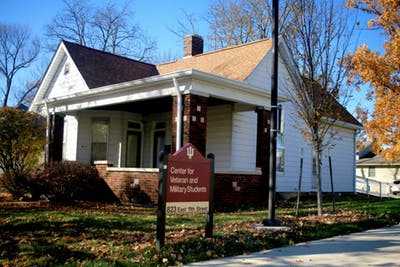 The Center for Veteran Military Students is located at 823 E. 11th St.