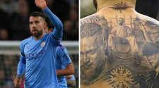 Otamendi's impressive tattoo collection: 'Breaking Bad, 'Peaky Blinders'....