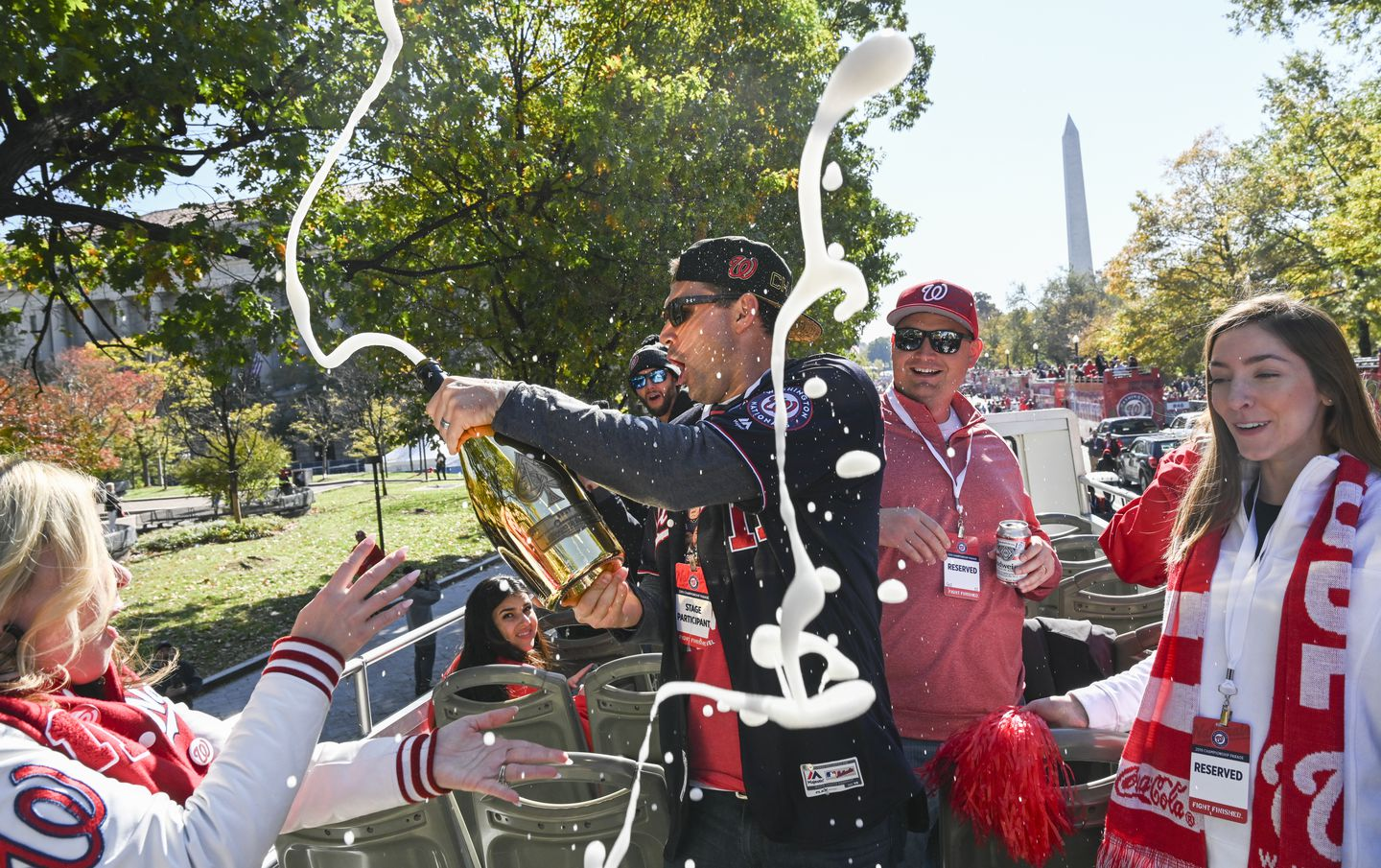 Nationals' World Series victory parade live updates video