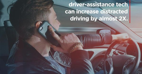 Over Reliance On Advanced Driver Assistance Technology Can Nearly Double Distracted Driving