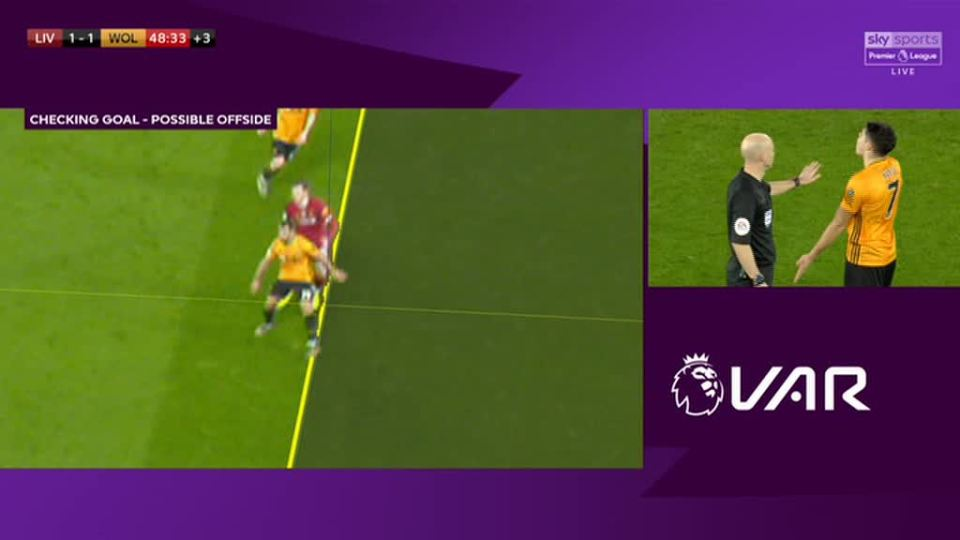 The goal was ruled out due to the player's hand being offside