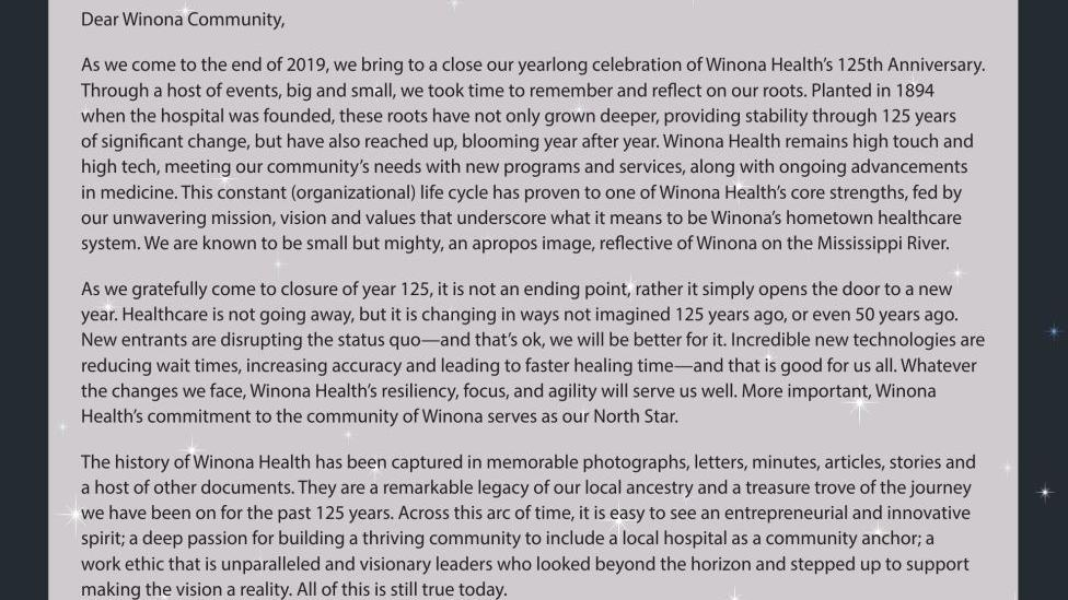 WINONA HEALTH - RETAIL ADS - Ad from 2019-12-22   Medical Care