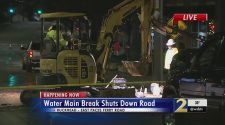 Buckhead road reopens after water main break caused 'street to buckle'