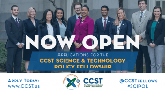 The CCST Science & Technology Policy Fellowship application is now open.