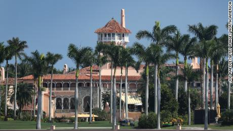 President Donald Trump's Mar-a-Lago resort is seen on November 1, 2019, in Palm Beach, Florida.