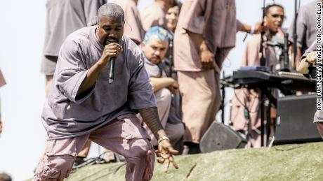 Kanye West performs Sunday Service during the 2019 Coachella Valley Music And Arts Festival.