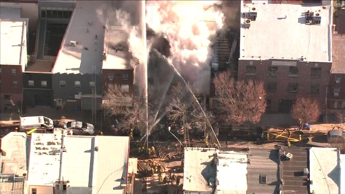 One person rescued after possible gas explosion topples Philadelphia building; search for others to start