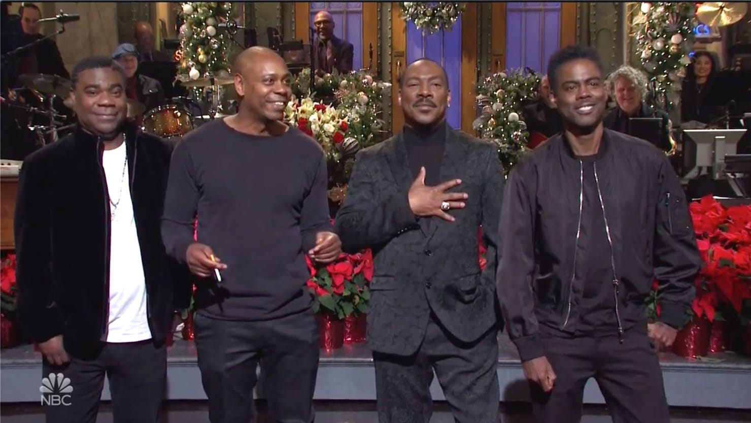 SNL's Eddie Murphy Roasts Bill Cosby Asking 'Who's America's Dad Now?'