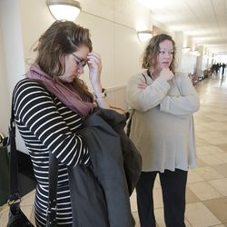 Anna Sullivan, left, and sister Rachel Sullivan, talk about their sister, Rebecca Sullivan, who was killed in October, during an interview outside of 3rd District Court in Salt Lake City on Friday, Dec. 20, 2019.Nathan Edwin Parry pleaded guilty to manslaughter in Rebecca Sullivan's death.