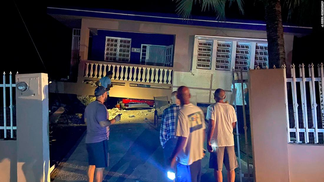 A 6.4 magnitude earthquake hits Puerto Rico on a second day of strong temblors; at least 1 killed