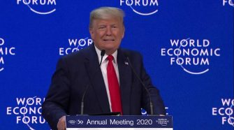 Davos: Trump decries climate 'prophets of doom' with Thunberg in audience