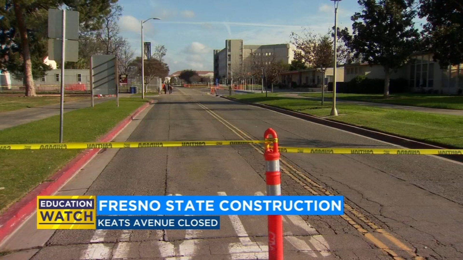 Fresno State students to see road closure upon return from winter break