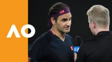 Roger Federer on-court interview | Australian Open 2020 (1R) - Australian Open TV