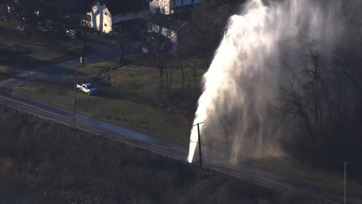 Water main break on Thoms Run Road in Collier Township