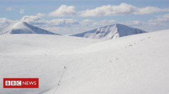 Why is there less snow on Scotland's mountains this year?