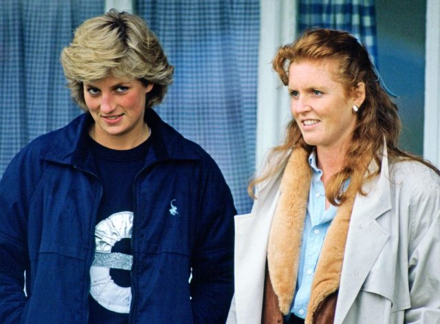 Princess Diana and Sarah Ferguson, Duchess of York at a polo match in 1987