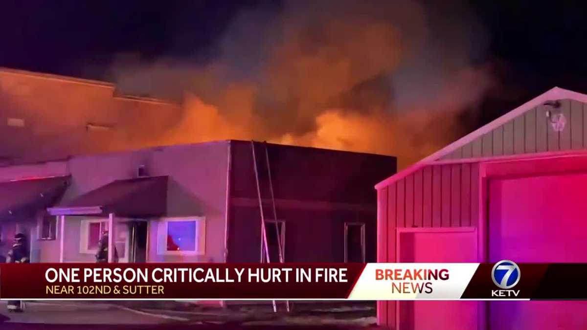 Firefighter critically hurt in Sarpy County fire
