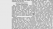 100 years ago in Spokane: County commissioners consider new voting machine technology