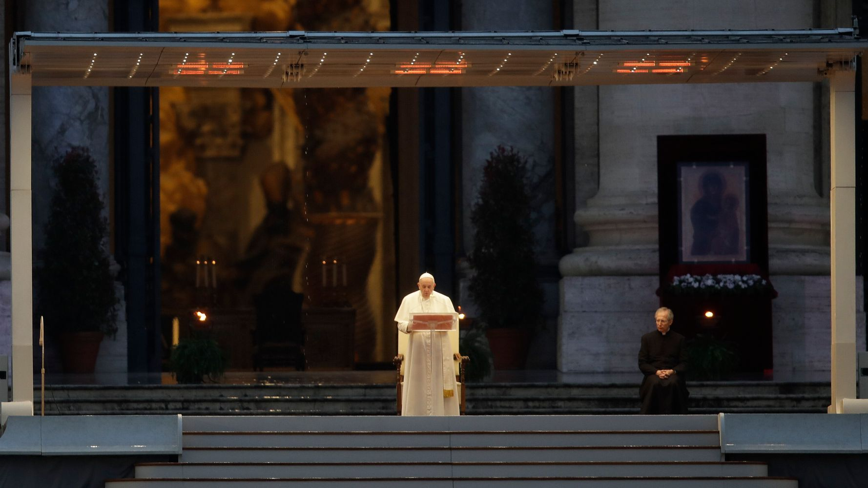 Pope Francis Prays In Empty St. Peter's Square In Hauntingly Moving Images