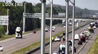 Vehicle Fire in Grant-Valkaria Shuts Down Northbound Lanes on I-95 |