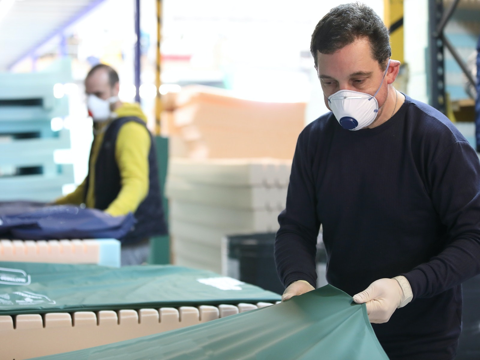 Mattress firm 'breaking all output records' to supply NHS