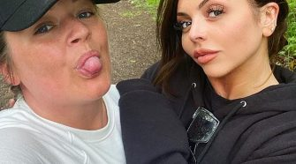 Natural:Jesy Nelson embraced her natural beauty when she took a break from isolation and went makeup free for a walk on Tuesday
