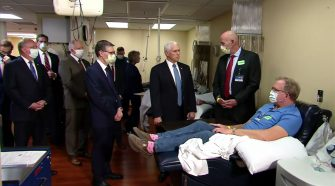 Mike Pence visits Mayo Clinic without mask despite Covid-19
